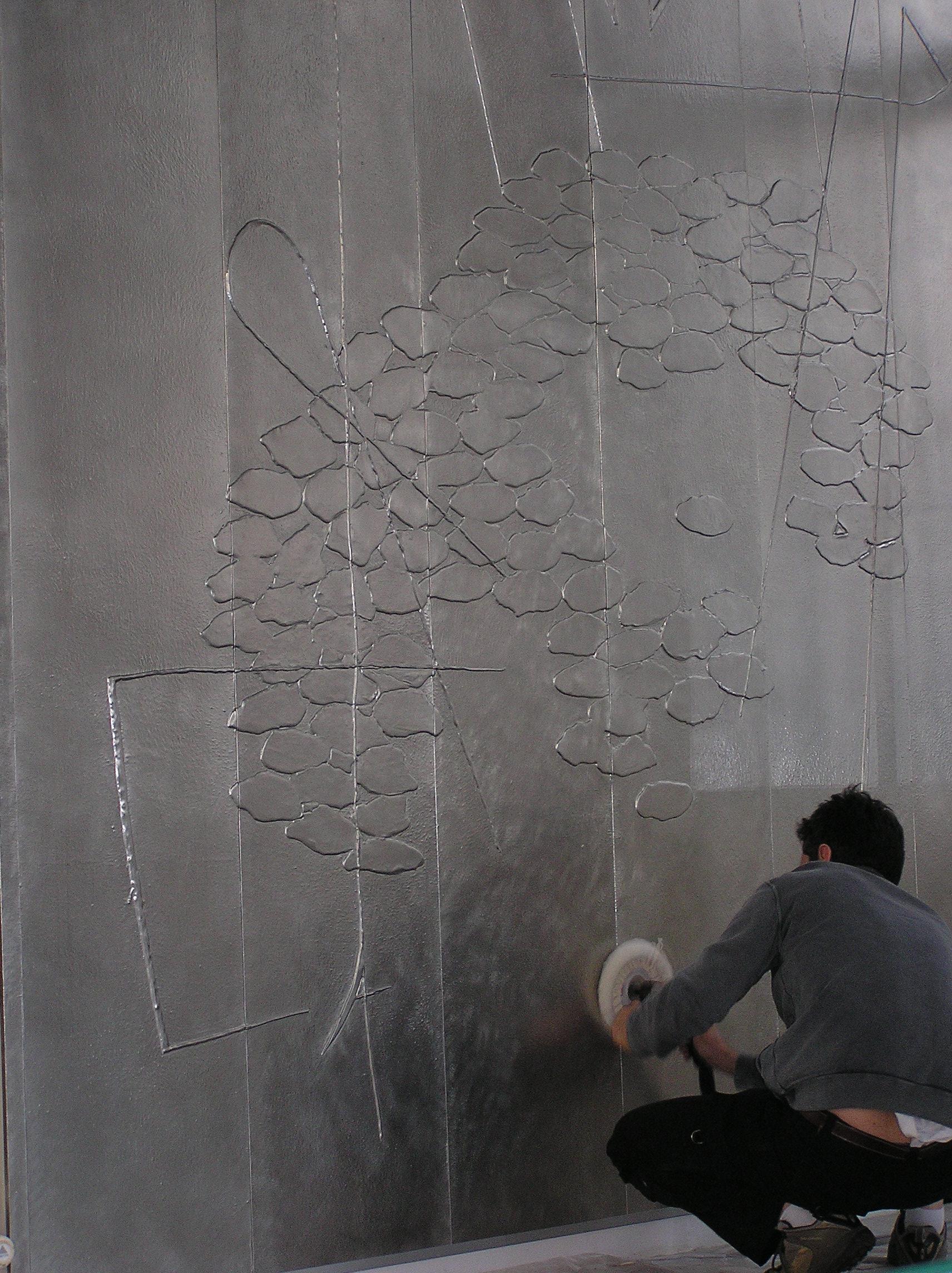 Mon salon a accueilli un tableau de chez for Deco sur mur gris