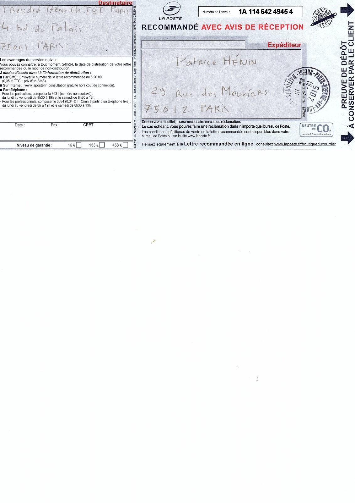Comment suivre un recommand for Suivre un courrier suivi